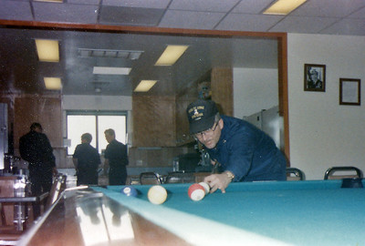 Chief Brouhard, Chief Engineer and resident pool shark!