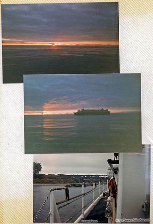 Sunsets while on patrol onboard The Point Ledge, USCGC Point Ledge (WPB 82334)