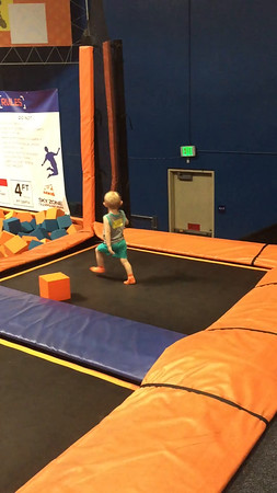 We went to the trampoline gym for Joe's birthday.