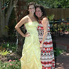 Alexis in prom dress with mom