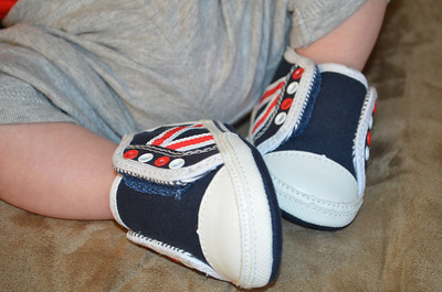 Oliver's first pair of shoes