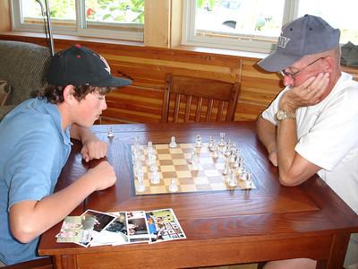 Kody playing some chess