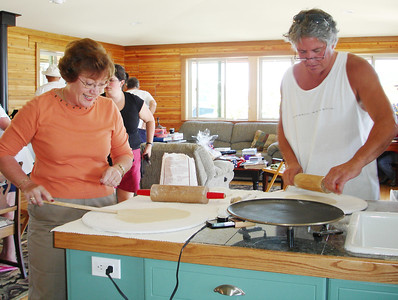 Judy and Jerry try their hand at lefse making