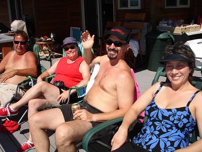 Gordy, Carol, Arthur and Mary enjoying the sun