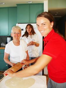 Jill making Lefse