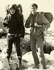 Roger Akey and me, California camping in 1963.  Note my borrowed wooden backpack and large sleeping bag.