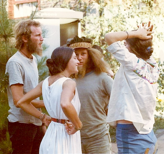 The author, Kimberley Curtis, Michael Goodman, his GF, in Ashland for the 1972 Shakespeare Festival.