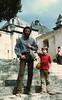 Daniel & Davy in Oaxaca, Winter of 1984.  I'm wearing LOTRs and Dan is wearing a popular style since forgotten.