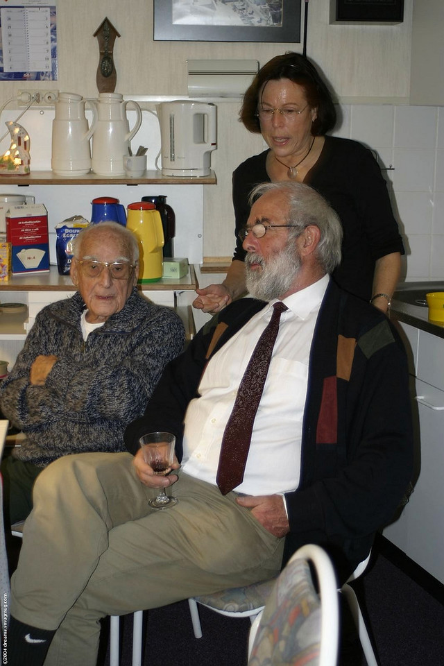 Opa, my dad and tante Willy