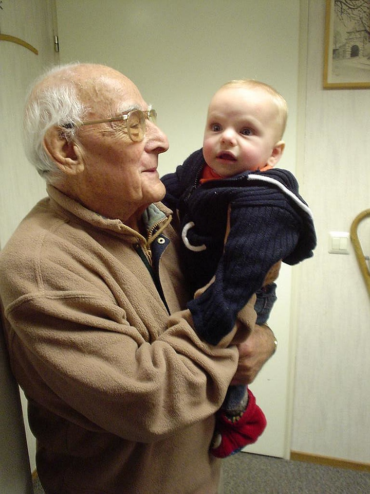 Opa with his latest grand daughter Elise