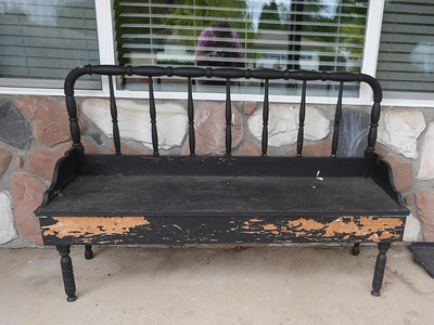 Jenny Lind bench at Mary Ann's house