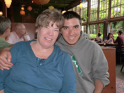Mary Ann and Kyle.  Kyle had just been to the week-long Kawanis camp.  He had such a great time.