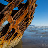 Shipwreck on the beach at Fort Stevens, Warrenton, OR