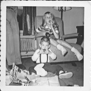 Me and I think Pam. Must've been a birthday party?