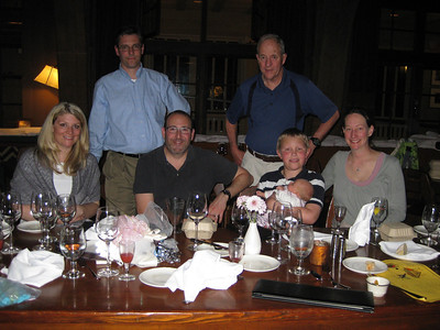 Dinner the night before the wedding at Timberline Lodge with some of the Huber family and Jeff/Heather and friends.