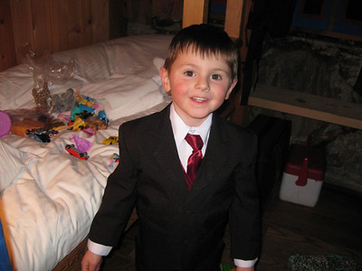 Christian dressed up for the wedding.