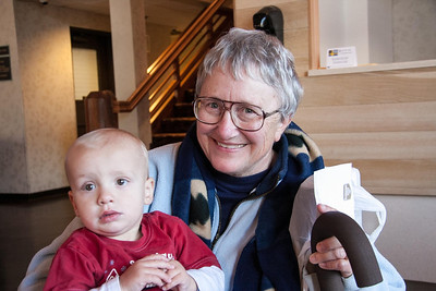 Lou Jean with her youngest Grandson Carson.