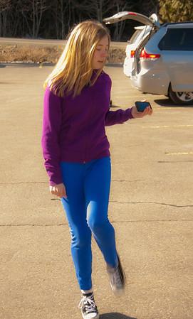 Rachel, our oldest grandchild, practicing Irish Step Dancing.