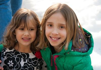 Audrey and her cousin Sarah Ann.