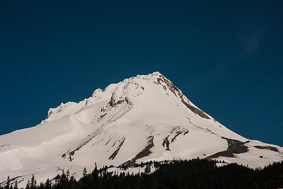 Mt. Hood at mid day.