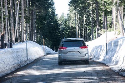 Driving to a snow park.