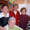Aunt Jessie's 90th bday, Feb 19, 2010. Here she is with the LaPere girls: Patty, Margie, Bobbette and Janice