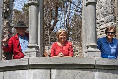 John, Tina and Anika in the Ruins