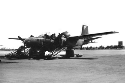 A B-25 under service