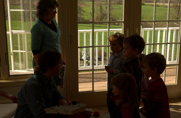 Getting egg hunt instructions