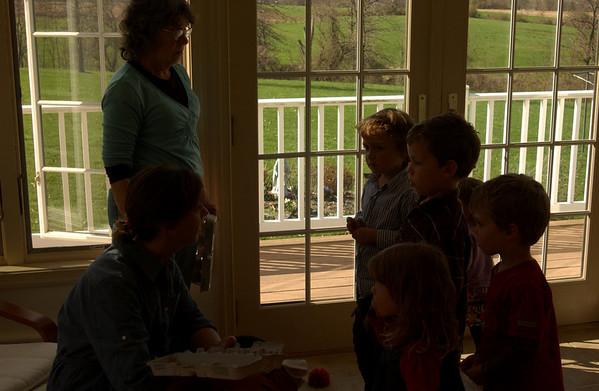 Getting egg hunt instructions