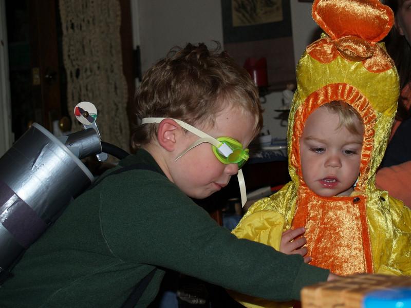 Halloween '07 (Dominic & Luke as a diver & a duck)