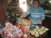 Mom frying the doughnuts on Fastnacht Day (A Pennsylvania-German holiday, the day before Lent, celebrated in Eastern PA by eating doughnuts)  [fixed version of previous photo]