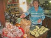Mom frying the doughnuts on Fastnacht Day (A Pennsylvania-German holiday, the day before Lent, celebrated in Eastern PA by eating doughnuts)