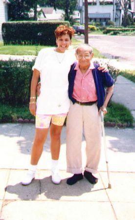 Grandfather (Julio Reece) and Gabrielle (Giggy)