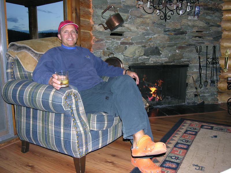 Terry enjoying his 1st scotch.