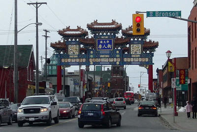 the entrance to Chinatown ... at Bronson and Somerset ... the Yangtze restaurant is just beside the left post of the arch