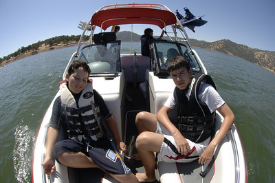 Josh & J.P. on the lake!