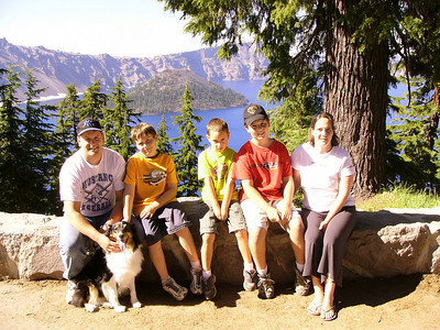 The Fam @ Crater Lake, Oregon