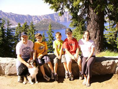 The Fam @ Crater Lake, Oregon