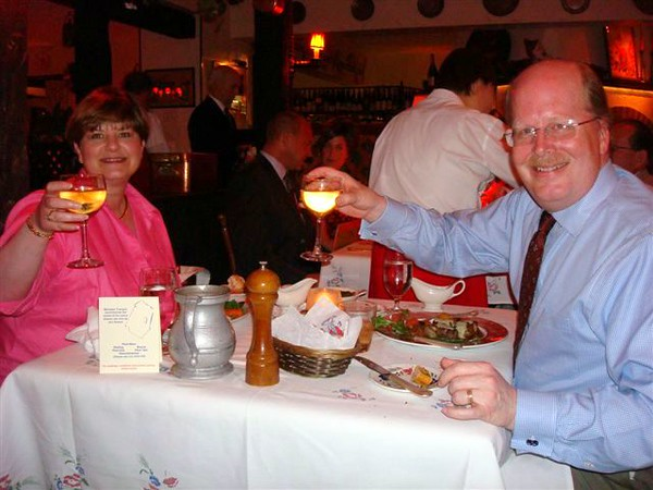 "This photo was taken by the couple at the next table. They were celebrating their 33rd wedding anniversary the same as us...at <a href=""http://www.laubergechezfrancois.com/"">L'auberge Chez Francois</a> in Great Falls, VA.   This restaurant was fantastic...great food and some of the most impeccable service I've ever seen. Strongly recommended!"