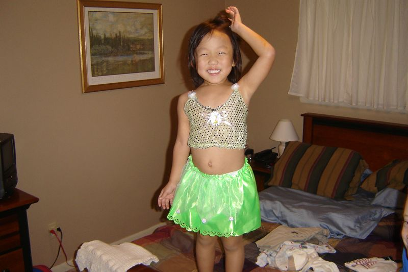 Interesting Tinkerbell costume!