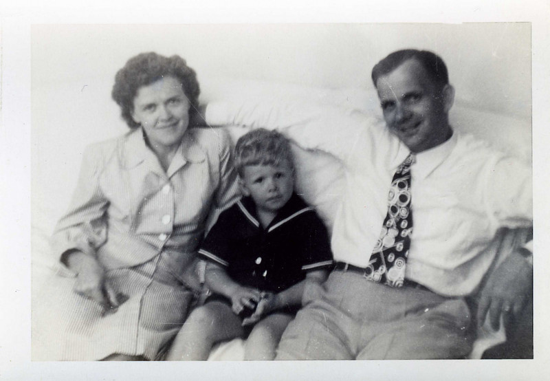 Jerry with his mother and father.