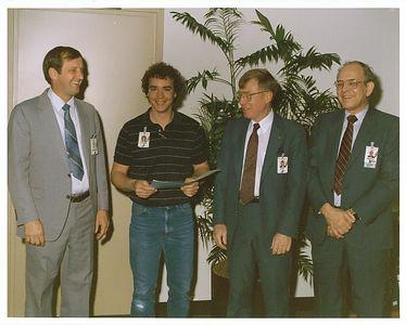 "Jay Receiving ""Teammate of Distinction"" Award McDonnell Douglas - May 1987"