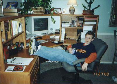 Jack at the Computer November 2000