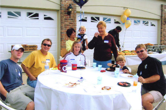 MONTCLAIR SUBDIVISION PARTY<br /> June 2006)<br /> Enjoying a little food with our neighbors.