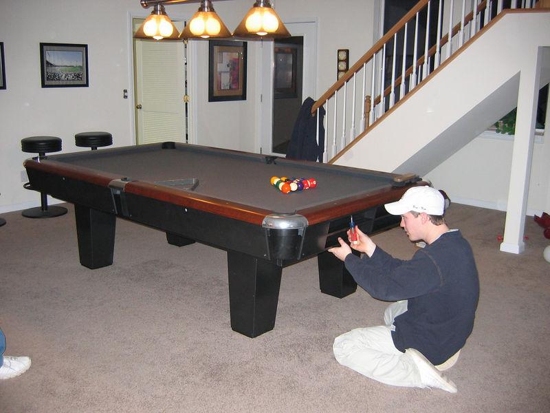 Pool Table Setup