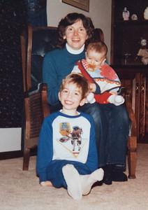 Mom, Michael & Christopher 1985