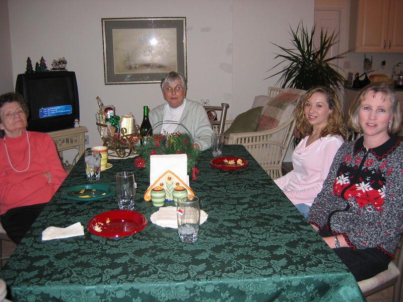 <big>Mom, Georgia, Brittany & Jackie</big> Christmas Eve 2005