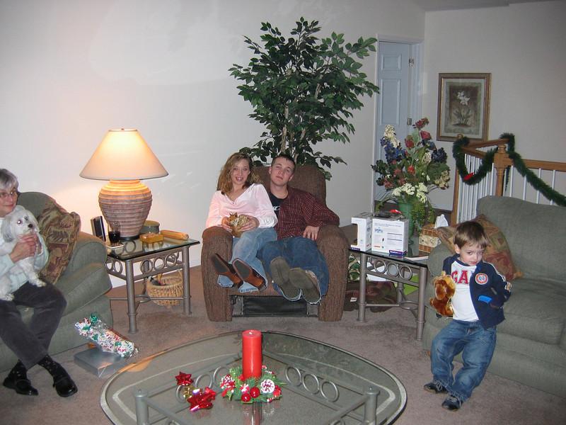 <big>Georgia, Brittany, Jay & Jayme</big><BR> Christmas Eve 2005