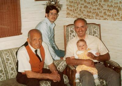 4 Generations - Christopher, Bob, Grandpa Ben Sano & Great Grandpa Angelo Sano 1978